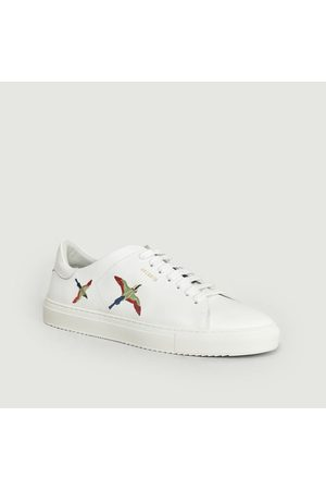 Axel Arigato Clean 90 Leather Sneakers With Embroidered Birds