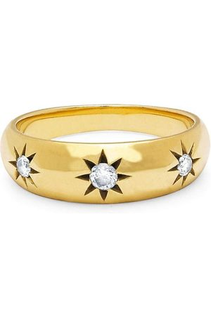 Star Set Rounded Ring