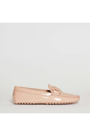 Tod's Moccasin With Rubber Leather / Powder Paint With Colored Powder Chain