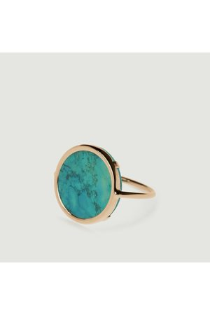 GINETTE NY Women Rings - Disc Ring Turquoise