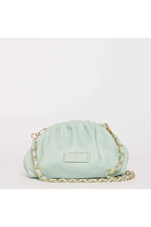 My Best Bags Small Clutch Bag In Pale Green Skin