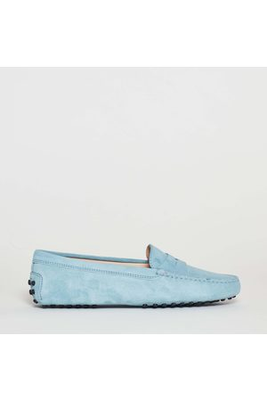 Tod's Loafer In Suede Bottom Grommets