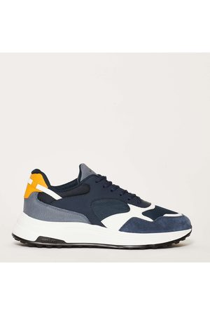 Hogan Sneakers New Running H563 Leather And Suede Details + White Bottom In 35 Mm Rubber