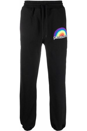 Pleasures Embroidered-logo joggers