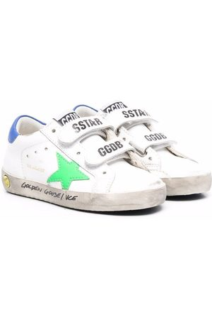 Golden Goose Kids Logo-patch touch-strap sneakers