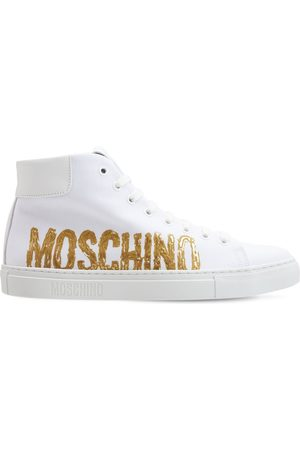 MOSCHINO 25mm Painted Logo High-top Sneakers