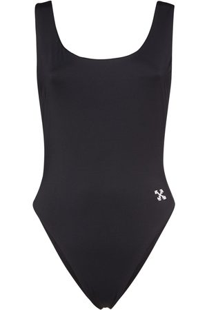 OFF-WHITE Logo Band One Piece Swimsuit