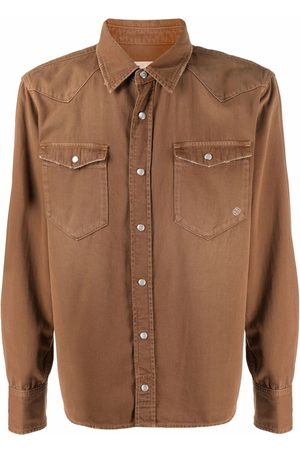 Eleventy Western-style fitted shirt