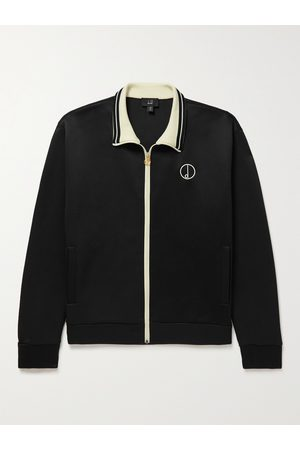Dunhill Logo-Embroidered Tech-Jersey Track Jacket