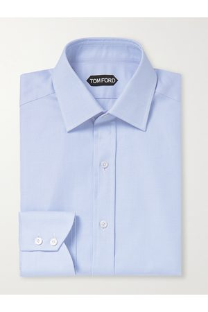 Tom Ford Slim-Fit Houndstooth Cotton Shirt