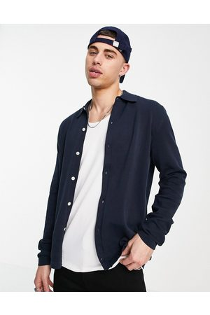 Selected Homme Button through knitted shirt in