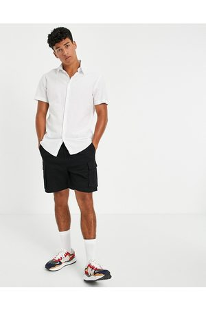 SELECTED Linen shirt with short sleeves in