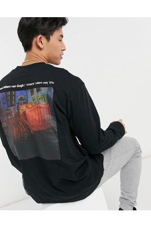 Topman APOH long sleeve oversized t-shirt with Van Gogh text print in