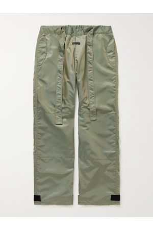 FEAR OF GOD Wide-Leg Belted Iridescent Nylon-Blend Trousers