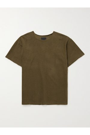 FEAR OF GOD Men T-shirts - Distressed Cotton-Terry T-Shirt