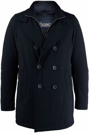 HERNO Men Coats - Double-breasted layered coat