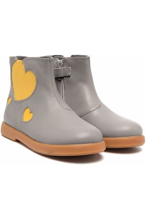 Camper Girls Ankle Boots - Heart-patch detail boots