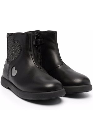 Camper Kids Girls Ankle Boots - Heart-patch detail boots