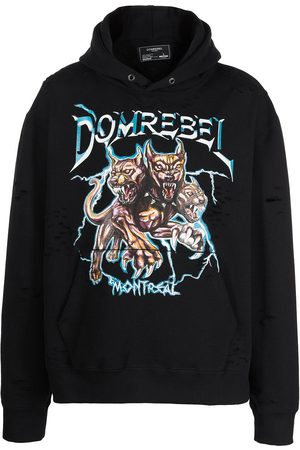 DOMREBEL Canine graphic-print pullover hoodie