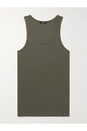 TOM FORD Ribbed Cotton and Modal-Blend Tank Top