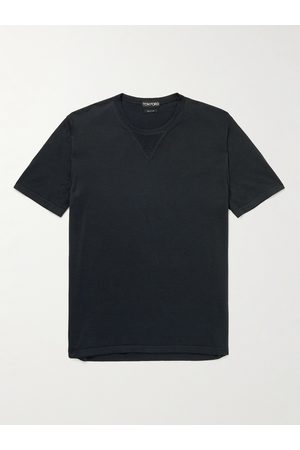 TOM FORD Silk and Cotton-Blend Jersey T-Shirt