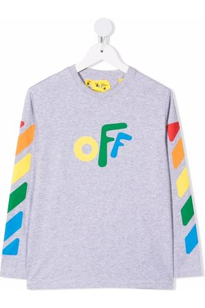 Off-White Kids OFF ROUNDED TEE L/S LIGHT MULTICOLO