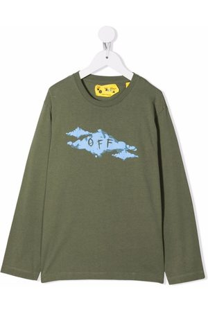 Off-White Kids OFF CLOUD TEE L/S MILITARY LIGHT BLUE