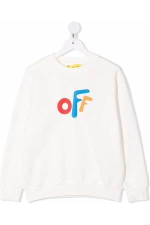 Off-White Kids Boys Sweatshirts - OFF ROUNDED CREWNECK MULTICOLOR