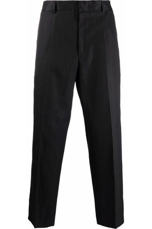 Jil Sander Pressed-crease cotton tailored trousers