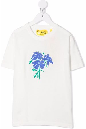 Off-White Kids Girls T-shirts - OFF LILAC FLOWER TEE LILAC