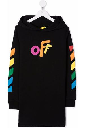 Off-White Kids OFF ROUNDED HOODIE DRESS MULTICOLO