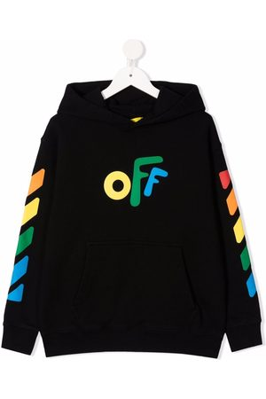 Off-White Kids OFF ROUNDED HOODIE MULTICOLOR