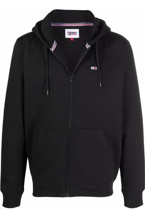 Tommy Jeans Flag patch rib-trimmed hoodie