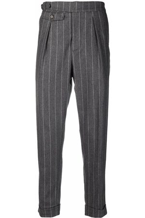 ELEVENTY Pinstriped tapered trousers