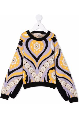 Emilio Pucci Floral-print knitted jumper