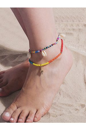 YOINS Women Jewellery Sets - 1 Set Conch Elastic Beach Shell Anklets