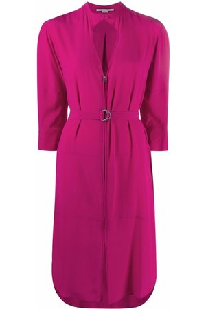 Stella McCartney Cut-out zip-front belted dress