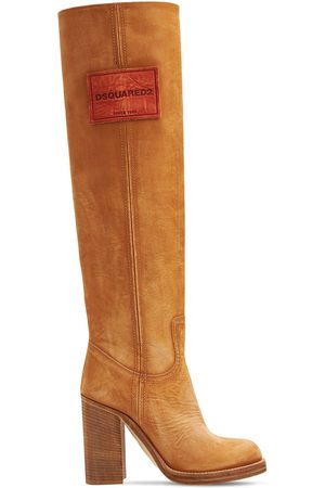Dsquared2 100mm Suede Tall Boots