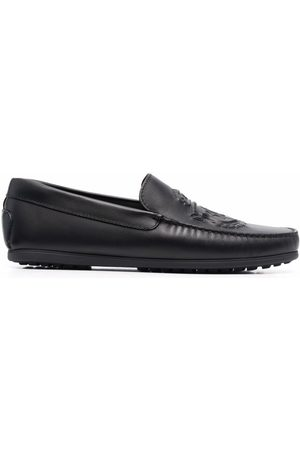 Billionaire Embossed logo leather loafers