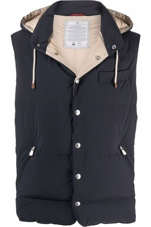 Brunello Cucinelli Hooded feather-down padded gilet