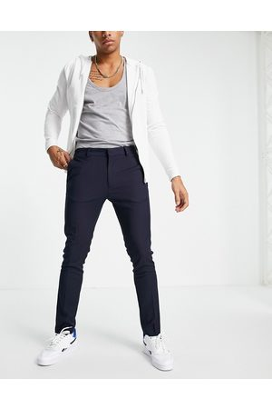 Topman Skinny recycled polyester trousers in