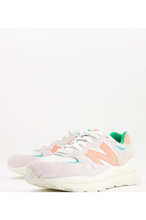 New Balance 57/40 trainers in off and coral - exclusive to ASOS