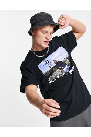 New Look Oversized t-shirt with Ice Cube print in