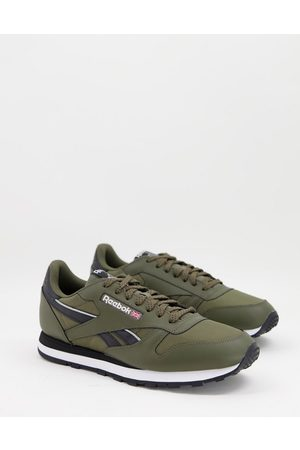 Reebok Men Boots - Classic Leather trainers in khaki and black