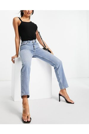 French Connection Women Boyfriend - Mom jeans in light wash