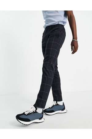 River Island Men Tracksuit - Smart joggers in & red check