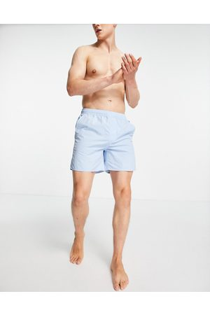 French Connection Men Swim Shorts - Tas contrast swim shorts in sky and marine
