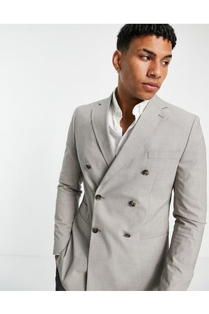 SELECTED Men Blazers - Double breasted blazer in sand