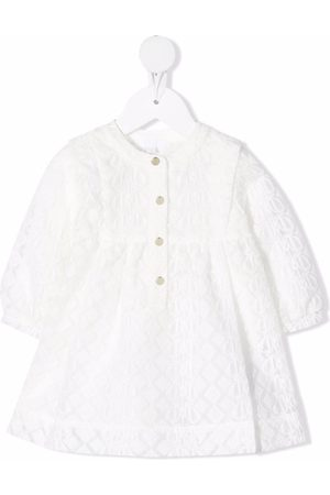 Chloé Kids Embroidered buttoned dress