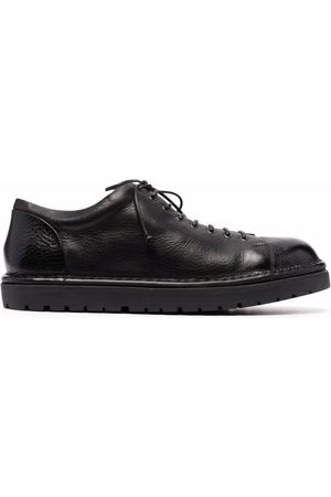 MARSÈLL Round-toe leather derby shoes